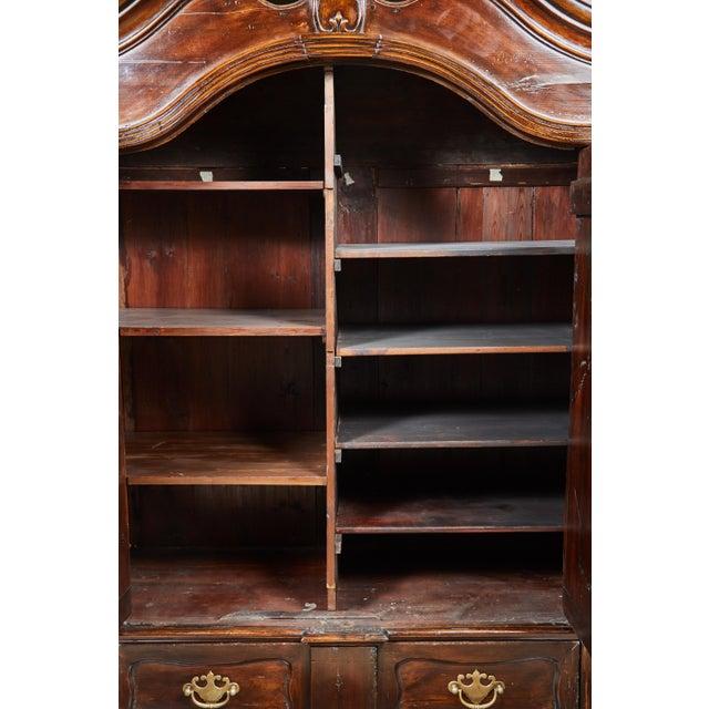 Brown 18th Century Danish Louis XVI Pine Two-Door Cabinet For Sale - Image 8 of 10