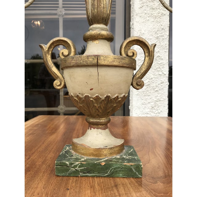 Vintage Italian Painted Pricket For Sale - Image 4 of 7