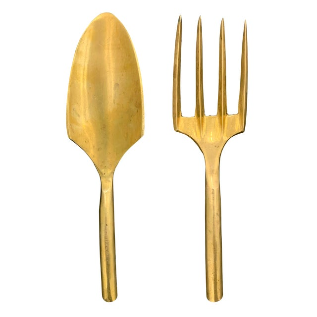 20th Century Brass Garden Tools - Set of 2 For Sale - Image 10 of 10