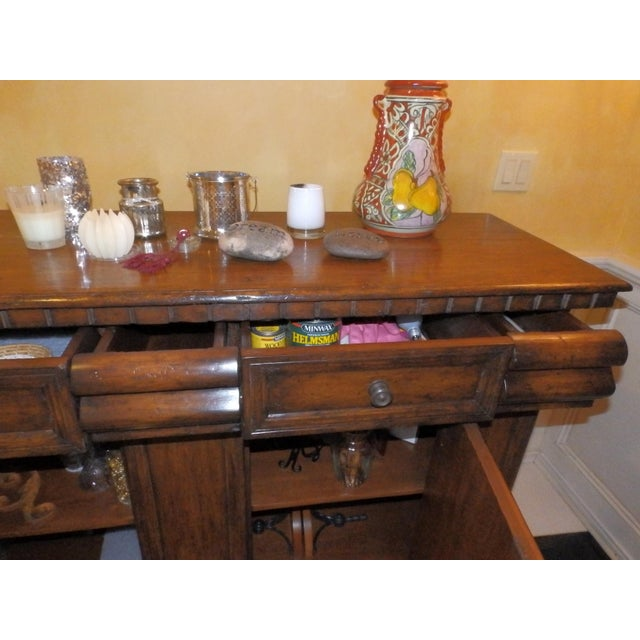 19th Century Spanish Colonial Solid Wood Sideboard For Sale In New York - Image 6 of 7