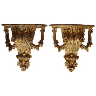 Pair of Gilt Brackets For Sale