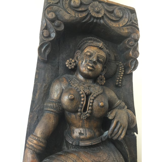 Indonesian Wood Carving on Stand - Image 5 of 11