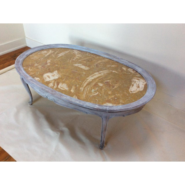 French Marble Top Coffee Table - Image 6 of 6