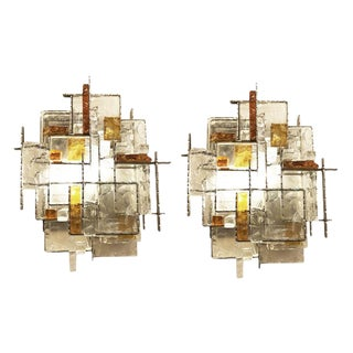 Poliarte Brutalist Wall Lights by Poliarte - a Pair For Sale