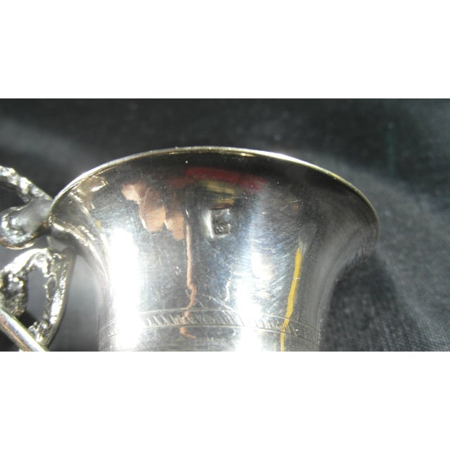 Italian 1832 to 1872 Italian Silver Liquor Cups - a Pair For Sale - Image 3 of 11