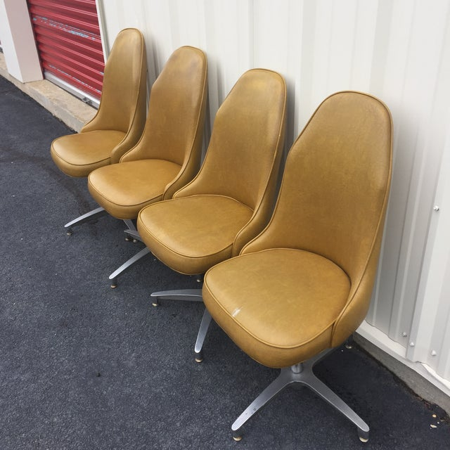Vintage Mid Century Low Stools - Set of 4 - Image 3 of 9