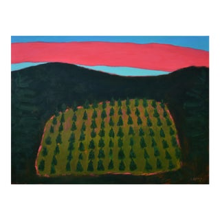 """Christmas Tree Farm at Sunset"" Painting by Stephen Remick"