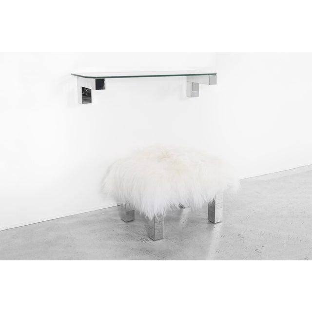 Modern Paul Evans Floating Cityscape Shelf + Stool For Sale - Image 3 of 10
