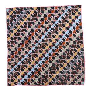 Handmade Multicolored Stitched Quilt For Sale