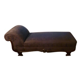 Late 19th Century Victorian Upholstered Chaise Lounge For Sale