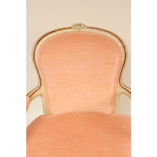 Paint 1980s Louis XV Style Painted Occasional Chairs - A Pair For Sale - Image 7 of 13