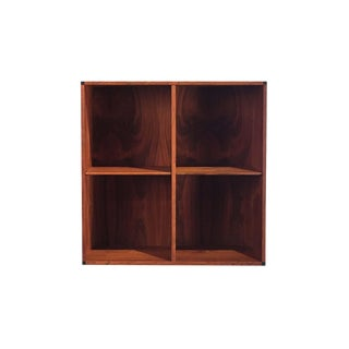 Vintage Danish Rosewood Wallmount Bookshelf For Sale