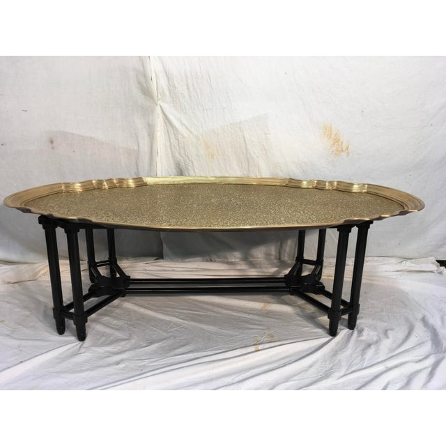 Baker Furniture Brass Tray Table - Image 2 of 10