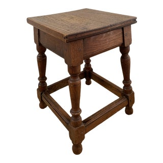 19th Century Oak Joint Stool For Sale