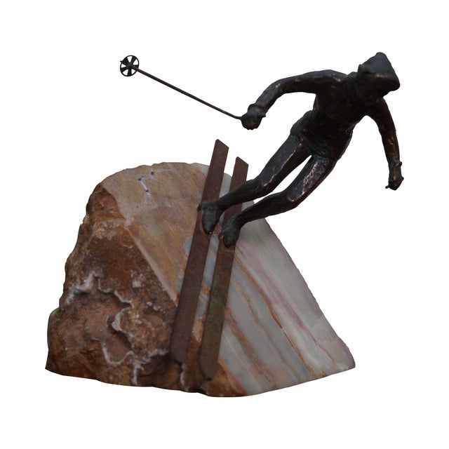 Curtis Jere Bronze Sculpture of Downhill Skier - Image 1 of 10