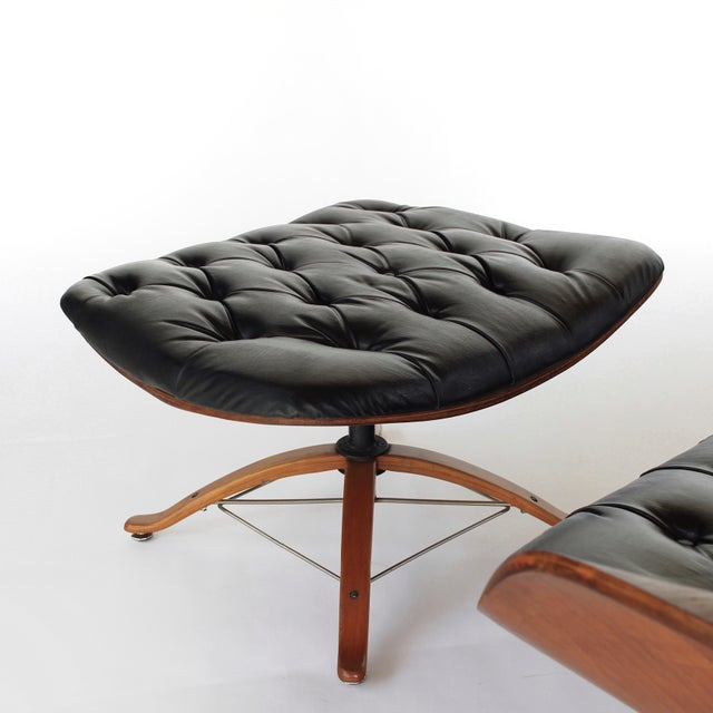 Mid Century Modern George Mulhauser for Plycraft Early Mr Chair Lounge Chair & Ottoman For Sale - Image 9 of 11