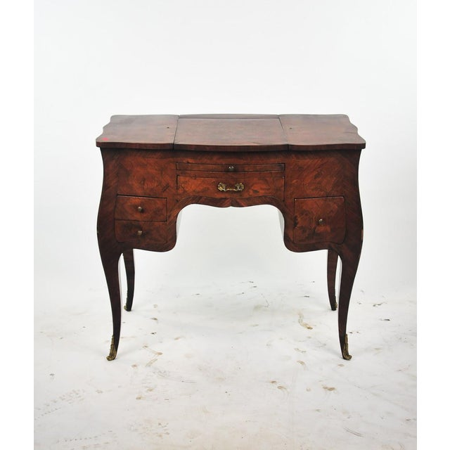 Louis XIV 18th Century Louis XVI Marquetry Inlaid Vanity Stand For Sale - Image 3 of 11