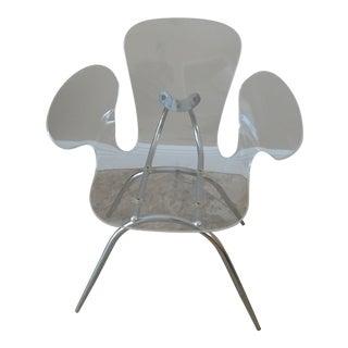 Mid-Century Modern Acrylic Cradle Chair