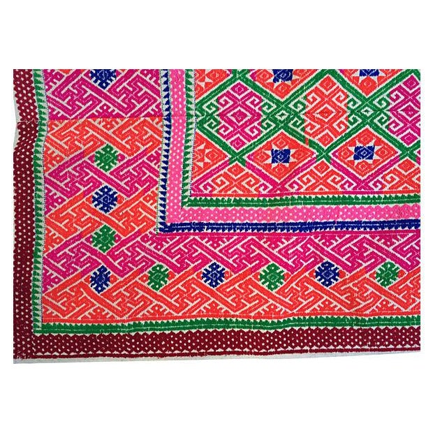 Hmong Tribal Marriage Quilt - Image 4 of 4