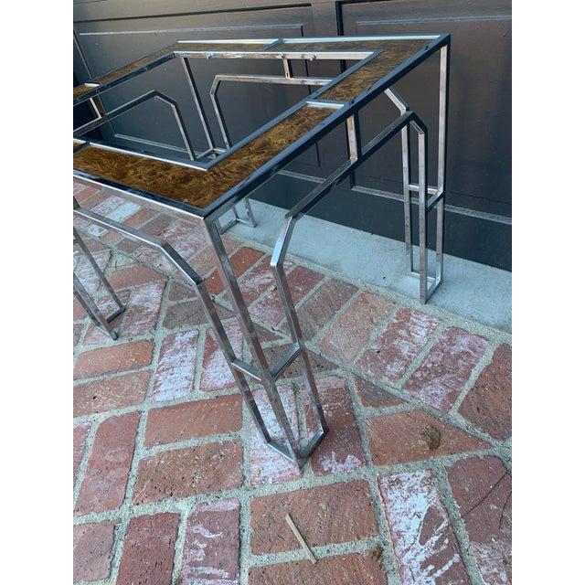 Hollywood Regency Vintage Milo Baughman Side Table For Sale - Image 3 of 5