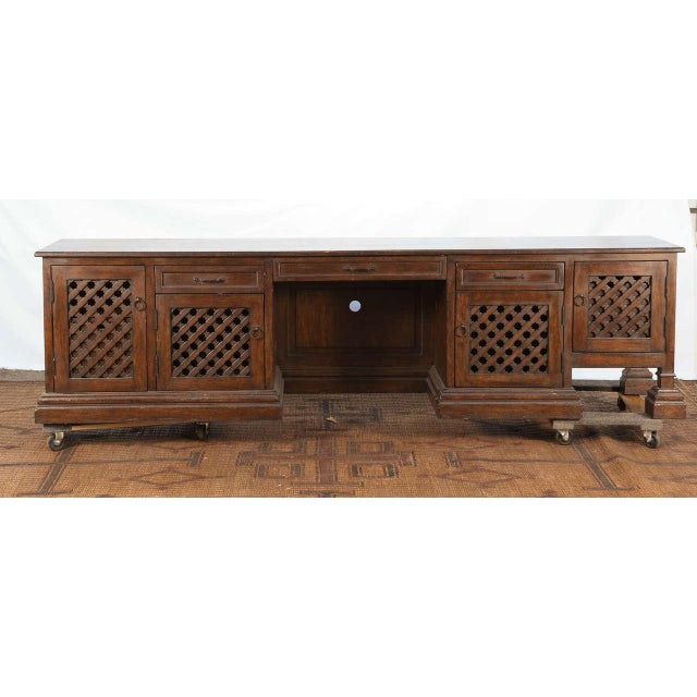 Mid Century Moroccan Handcrafted Decorative Desk For Sale - Image 10 of 10