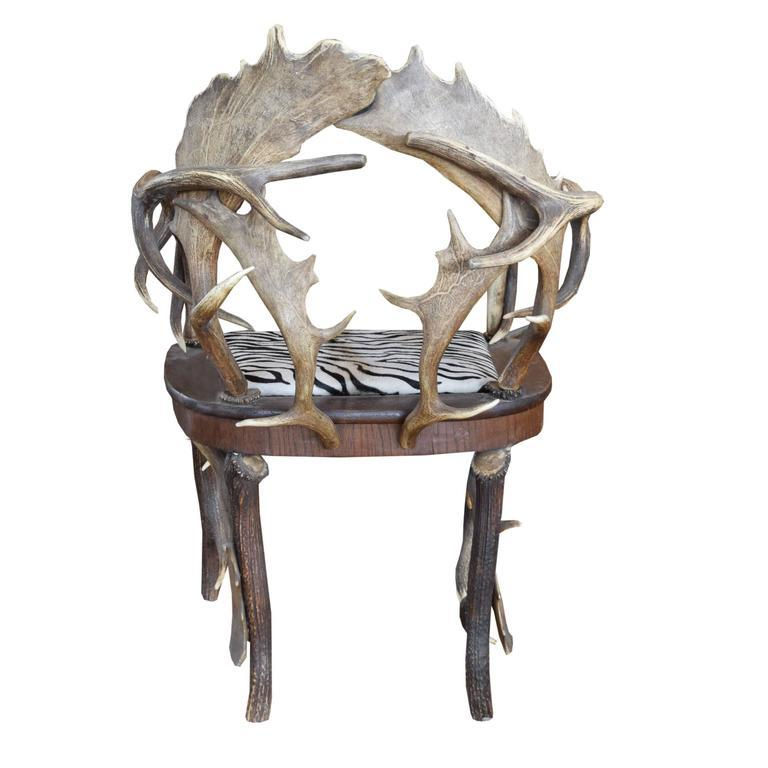 Antler Chair From A Bavarian Lodge   Image 4 Of 6