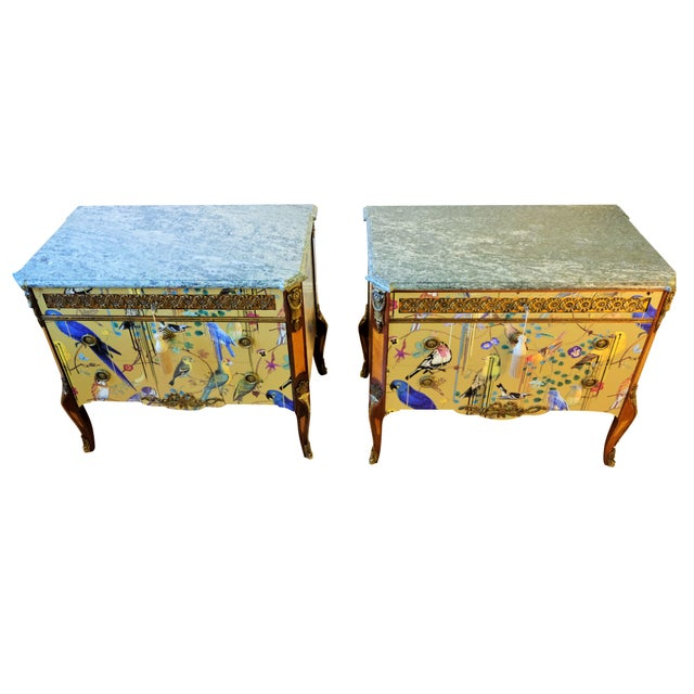 French Christian Lacroix Style Commodes - a Pair For Sale - Image 3 of 9