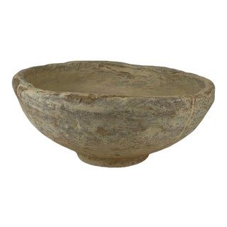 Late 20th Century Vintage Indian Paper Mache Bowl For Sale