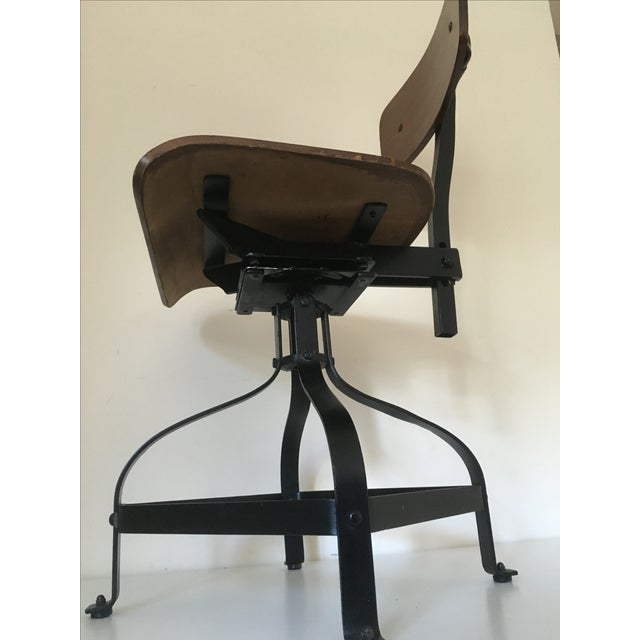Vintage Toledo-Style Industrial Chair - Image 5 of 5
