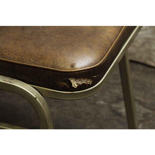 Salvaged Metal Vinyl Auditorium Office Chair - Image 5 of 10