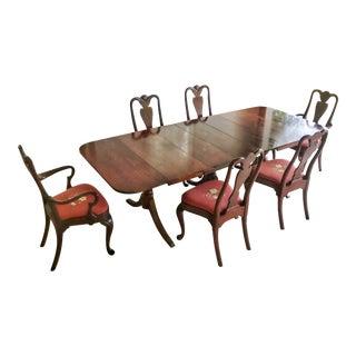 1930's Duncan Phyfe Style Mahogany Dining Set