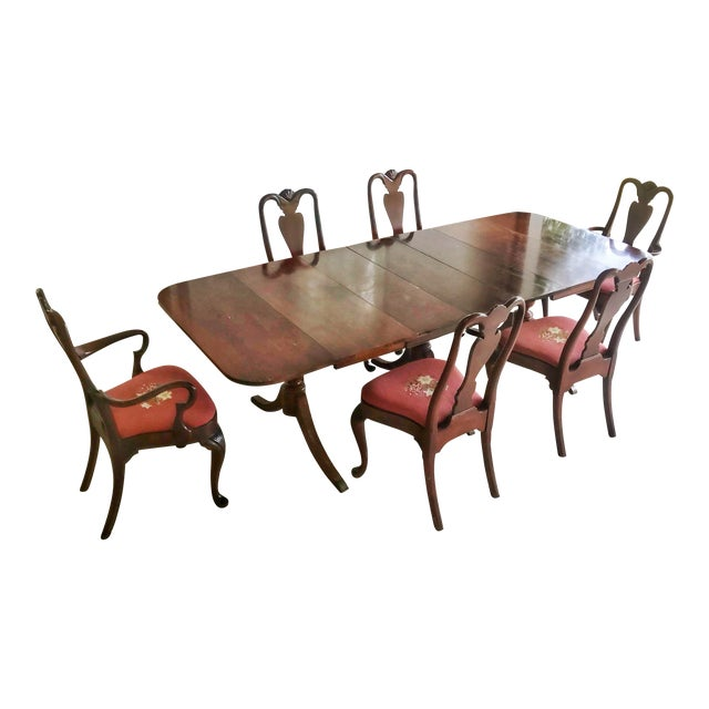 1930's Duncan Phyfe Style Mahogany Dining Set - Image 1 of 13