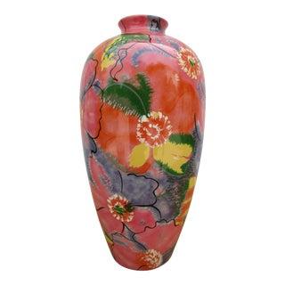 Toyo Floral Motif Vase For Sale