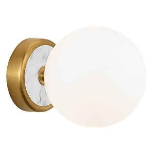 Lunar Single Wall Light - Brass For Sale