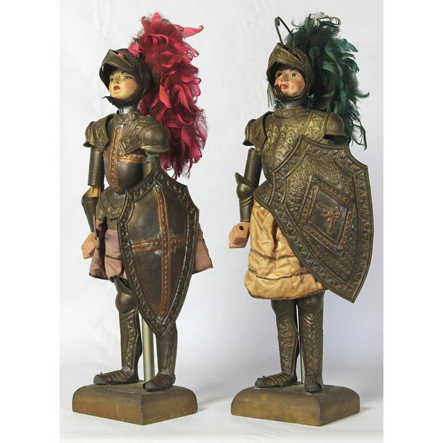 Metal Pair of Mid-19th Century Sicilian Marionettes For Sale - Image 7 of 11