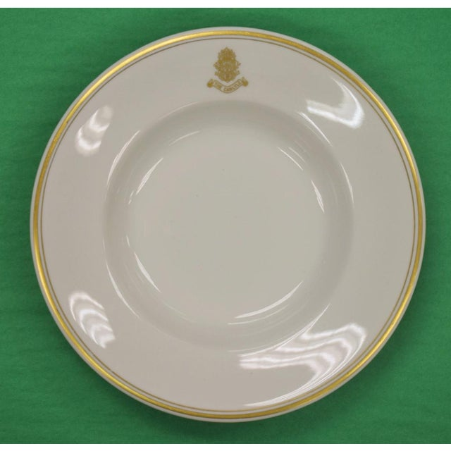 1950s Vintage Shenango Carlyle Hotel Gilt Soup Bowl For Sale In New York - Image 6 of 6