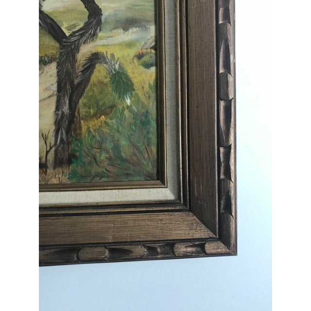 Abstract Expressionism Vintage Plein Aire Signed Oil Painting on Canvas For Sale - Image 3 of 8