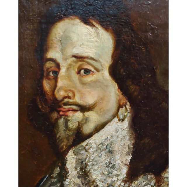 Portrait of a Spanish Gentleman 17th/18th Century Oil Painting For Sale - Image 4 of 9