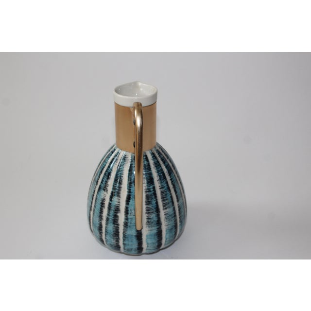 1957 Vintage C Miller Mid Century Ceramic Warming Carafe Decanter - Image 3 of 10