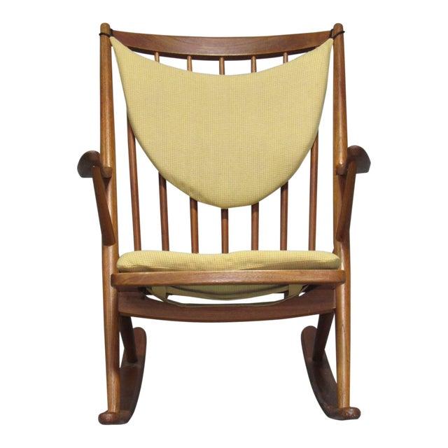 Danish Teak Rocking Chair by Frank Reenskaug for Brahmin For Sale