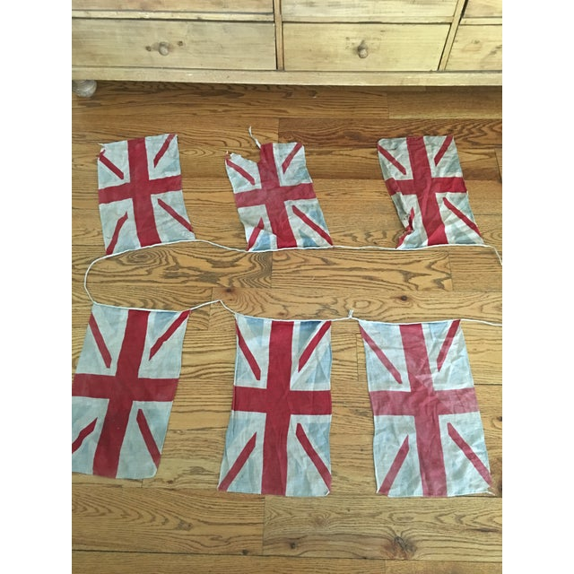 English Traditional Vintage Union Jack Bunting For Sale - Image 3 of 8