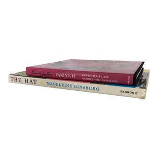 """The Hat"" by Madeleine Ginsburg and ""Faking It"" by Kenneth Jay Lane Books - a Pair For Sale"