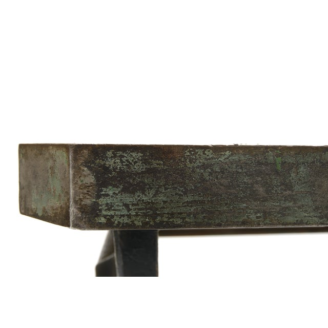 Industrial Iron and Wood Worktable From France - Image 6 of 8