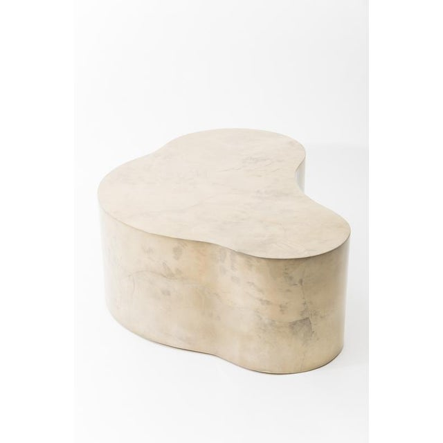 Animal Skin Lacquered Goatskin Free Form Low Table, Usa For Sale - Image 7 of 7