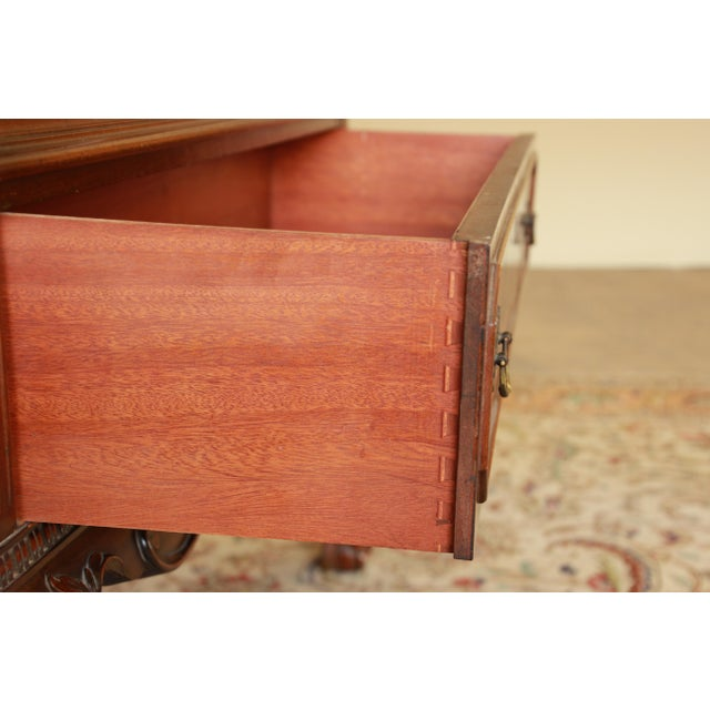 Antique French Chippendale Mahogany Cabinet For Sale In South Bend - Image 6 of 7