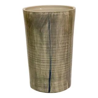 Ceramic Vase Landscape Grey For Sale