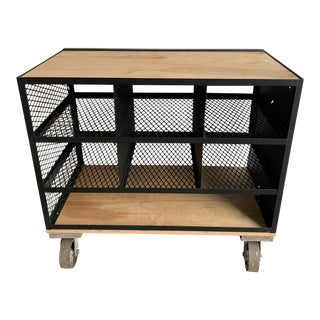 Industrial Tool Bar Cart For Sale