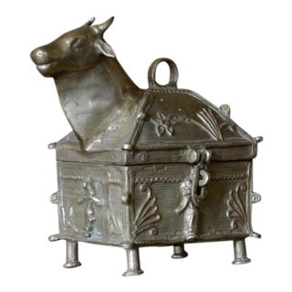 Brass Nandi Ceremonial Box For Sale