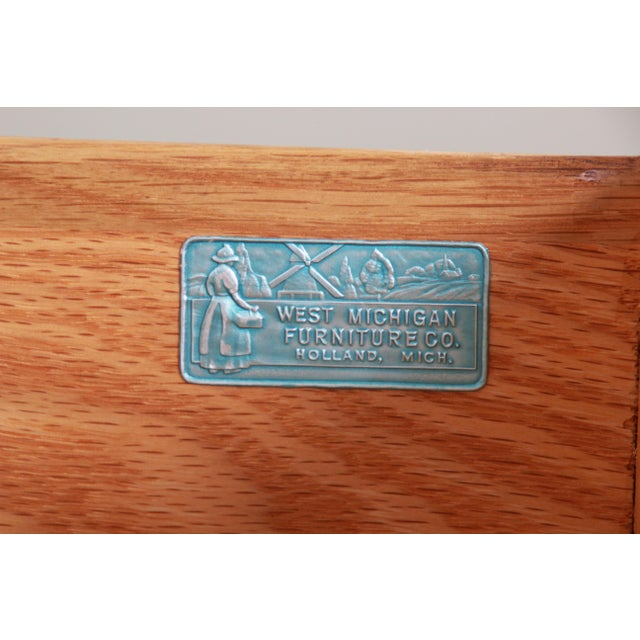 West Michigan Furniture Company Mid-Century Modern Walnut Triple Dresser or Credenza For Sale - Image 12 of 13
