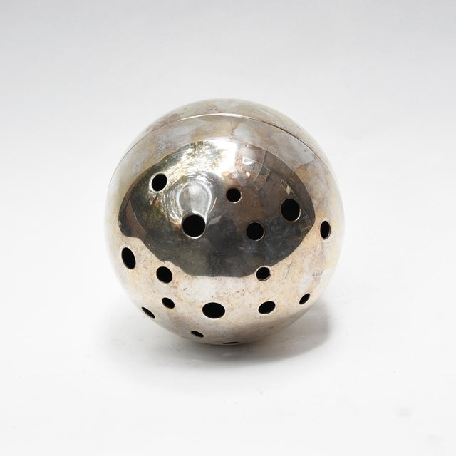 Christofle Gio Ponti Spherical Flower Holder For Sale - Image 4 of 5